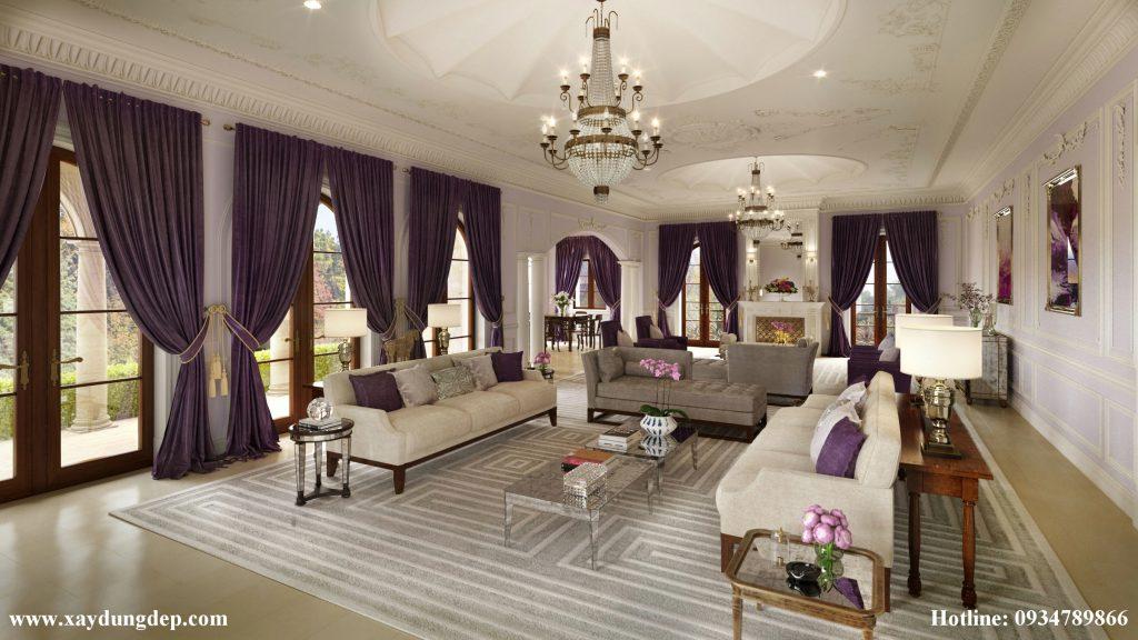 Thiết kế nội thất lâu đài dinh thự cổ điển kiểu pháp