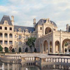 Thiết kế khách sạn kiểu pháp cổ điển kiến trúc châu âu đẳng cấp 5 sao