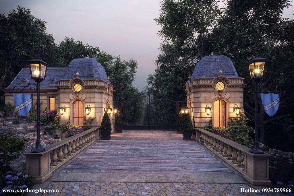 Thiết kế khách sạn kiểu pháp cổ điển