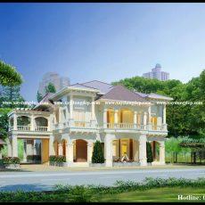 Thiết kế biệt thự cổ điển 2 tầng